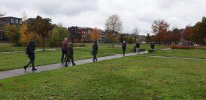 City walk in Enschede