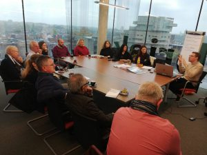 Projects' staff at the meeting room