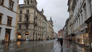 Rainy day in Graz