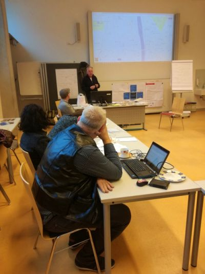 Project's staff attending a workshop